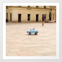 toddler Art Prints featuring Toddler Car In Monaco by ExperienceTheFrenchRiviera