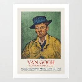 Vincent van Gogh - Exhibition poster at the Museum Jacquemart-Andre, 1960 Art Print
