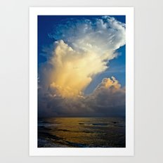 Cloud Explosion Art Print
