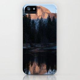 Half Dome Reflected in the Sunset iPhone Case