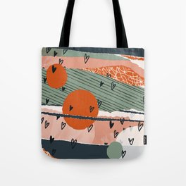 Paper Hearts Tote Bag