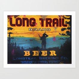 Vermont Brewers Series Long Trail Art Print