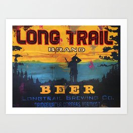 Vermont Brewers Series Long Trail Art Print