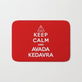 Keep calm and Avada Kedavra Bath Mat