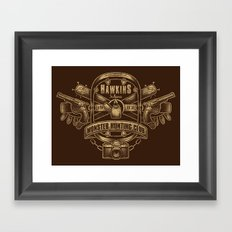 Hawkins Monster Hunting Club Framed Art Print
