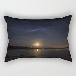 Moonrise Over Keystone Lake OKlahoma Rectangular Pillow