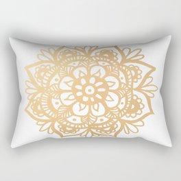 Gold Mandala Rectangular Pillow