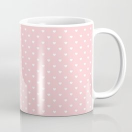 Mini White Love Hearts on Millennial Pink Pastel Coffee Mug