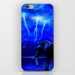 ELEPHANT LIGHTNING AND AFRICAN NIGHTS iPhone Skin