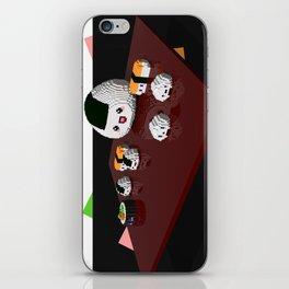 Kawaii sushi plate iPhone Skin