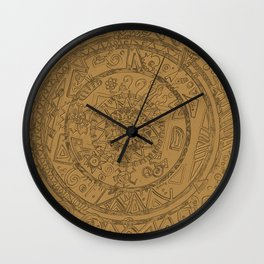 Gold Etching Wall Clock