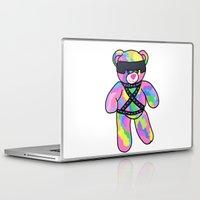 bondage Laptop & iPad Skins featuring Rainbow Bondage Bear by clevernessofyou