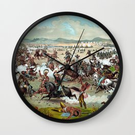 Custer's Last Stand Wall Clock