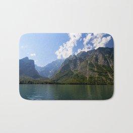 Bavaria - Alpes - Mountains Koenigssee Lake Bath Mat