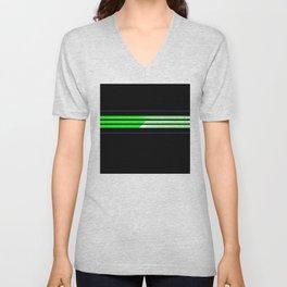 Team Colors 6...lime green,navy Unisex V-Neck
