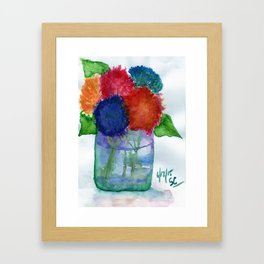 Hydrangea Flower Watercolor Painting Framed Art Print