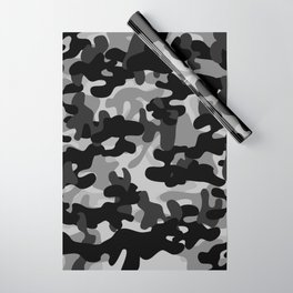 Camouflage (Gray) Wrapping Paper