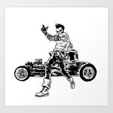 Dead Racer Art Print