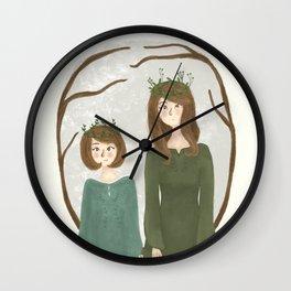 Queen Susan and Queen Lucy Wall Clock