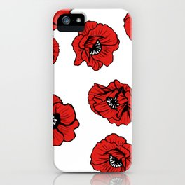 Hungry Poppies Light iPhone Case