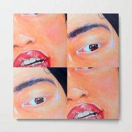 Face Detail  Metal Print