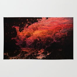 abstract water art Rug