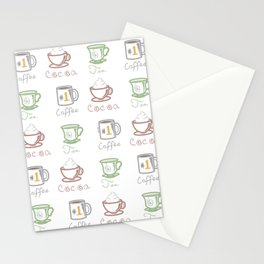Hot Drinks (Color) Stationery Cards