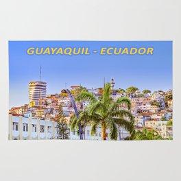 Santa Ana Hill, Guayaquil Poster Print Rug