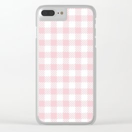 Pink Vichy Clear iPhone Case