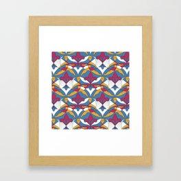 Interwoven XX_Raspberry Framed Art Print