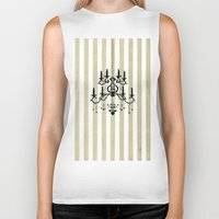 chandelier Biker Tanks featuring Chandelier shade  by Huda Mulla