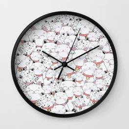 FIND THE PANDA - LUCKY CAT Wall Clock