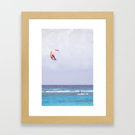 kite surfin' Framed Art Print