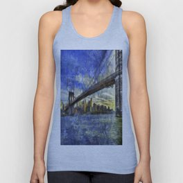Brooklyn Bridge New York Art Unisex Tank Top