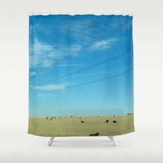South Dakota Cows Shower Curtain