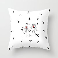 angels Throw Pillows featuring angels by julianesc