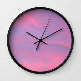 Sky-Blue Pink Wall Clock