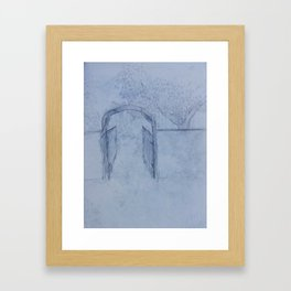 Garden Gate - Study Framed Art Print
