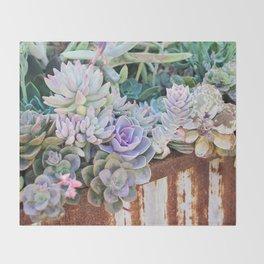 Desert Flowers Throw Blanket