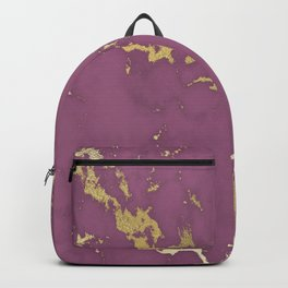 Plum Gold Marble Backpack