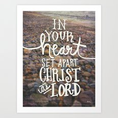 In Your Heart - Bible Inspiration Photo Expression Art Print