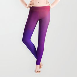 high country with red sky Leggings