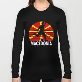 Macedonia Soccer Football MKD Long Sleeve T-shirt