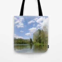 Impression Lake Tote Bag