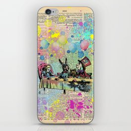 Tea Party Celebration - Alice In Wonderland iPhone Skin