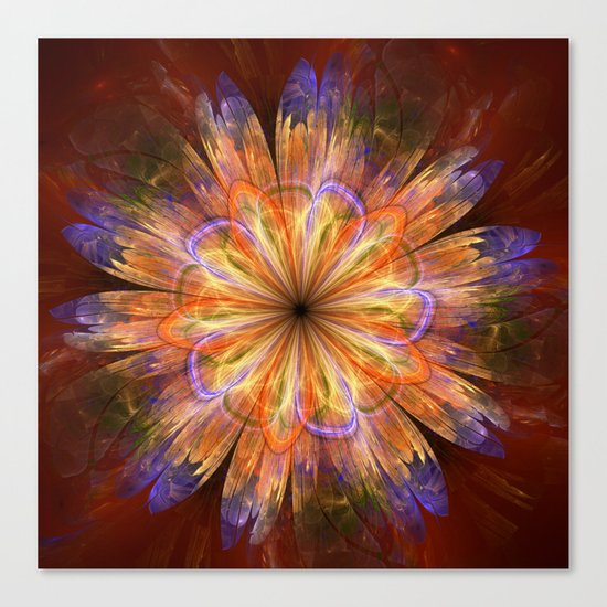 Artistic fantasy flower in summer colors Canvas Print