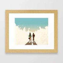 Foreign Towers Framed Art Print