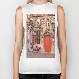 Bicycle and a door Biker Tank
