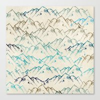 mountains Canvas Prints featuring Mountains  by rskinner1122