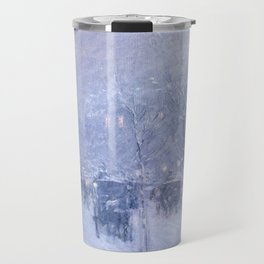 Late Afternoon, New York, Winter by Childe Hassam Travel Mug
